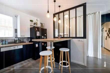 Maison esprit loft au style atelier: Cuisine de style de style Industriel par MY HOME DESIGN