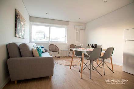 Home stage de apartamento no centro do Porto: Casas escandinavas por Paloma Agüero Design