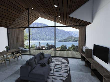 Progettazione Preliminare villa sul lago di como: Finestre in stile  di GradoZero