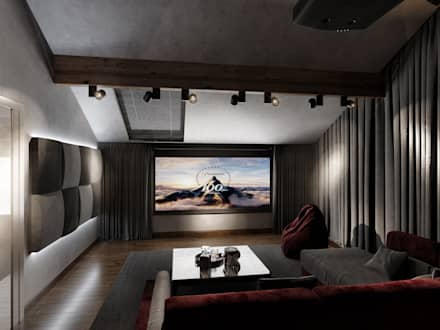 eclectic Media room by ST-buro