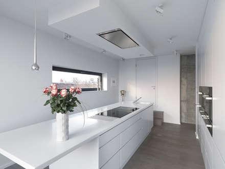 Küche Mit Fensterblick: Minimalistische Küche Von Lumoplan Lichtplanung  Berlin