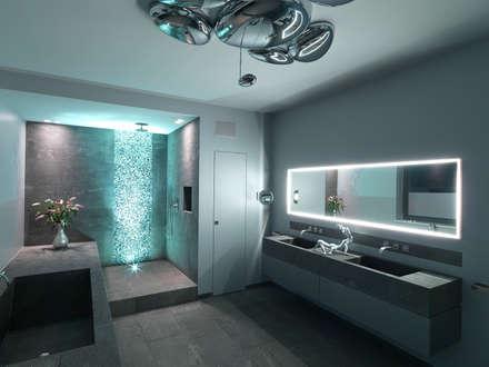 Minimalistische badezimmer ideen homify - Lichtplanung badezimmer ...