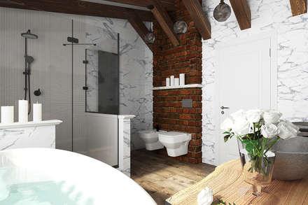 Ванная комната в стиле шале: Ванные комнаты в . Автор – Diveev_studio#ZI