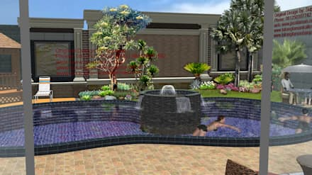 Lagoas de jardins  por TUKANG TAMAN SURABAYA - jasataman.co.id