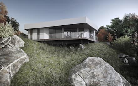 HOUSE BY THE RIVER:  Landhaus von Tobi Architects