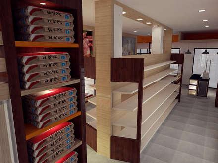 Bodegón Acarigua : Espacios comerciales de estilo  por SCABA EQUIPAMIENTO Y ARQUITECTURA COMERCIAL , C.A.