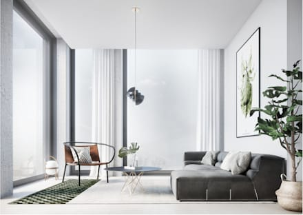 Architectural Visualisation - Scandinavian Interior : scandinavian Living room by WEMAPOUT