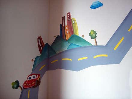 alcobas infantiles: Habitaciones para niños de estilo moderno por Omar Plazas Empresa de  Diseño Interior, remodelacion, Cocinas integrales, Decoración