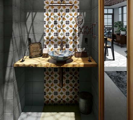 Art Nouveau: Baños de estilo mediterráneo de Equipe Ceramicas