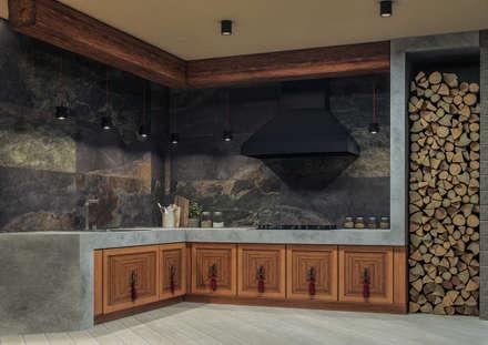 Частный дом: Встроенные кухни в . Автор – 'Шумливый и Партнеры'