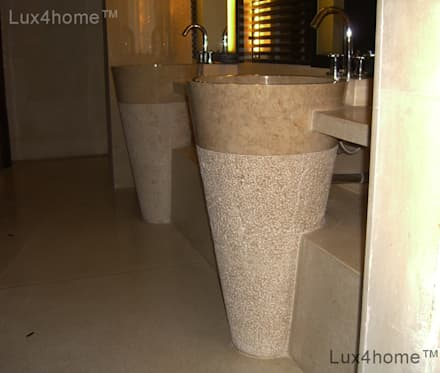 Free standing marble sink - Standing Stone Sinks: colonial Bathroom by Lux4home™ Indonesia