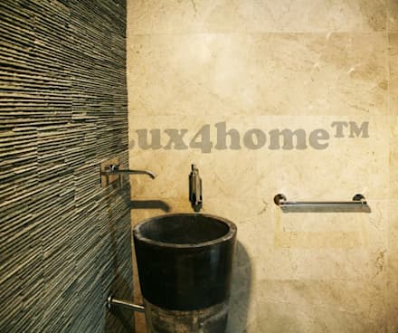 Free standing marble sink - Standing Stone Sinks: scandinavian Bathroom by Lux4home™ Indonesia