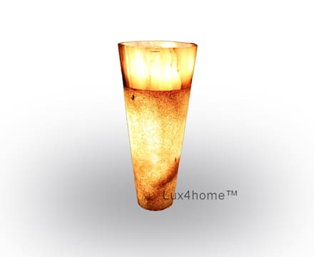 lighted onyx sink pedestal - Illuminated Onyx Sink: scandinavian Bathroom by Lux4home™ Indonesia