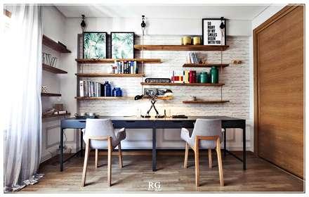 The ropes home office: Escritórios e Espaços de trabalho  por RG Home Stylist