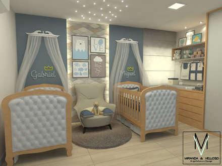 комнаты для новорожденных в . Автор – Miranda & Velloso Arquitetura e Design