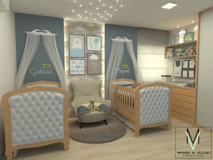 Baby room by Miranda & Velloso Arquitetura e Design