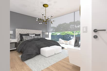 modern Bedroom by núcleo B arquitetos
