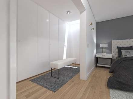 Closets de estilo minimalista por núcleo B arquitetos