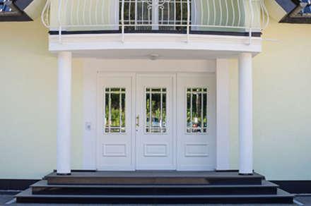 Außentreppe Granit Nero Assoluto:  Villa von Klepfer Naturstein GbR