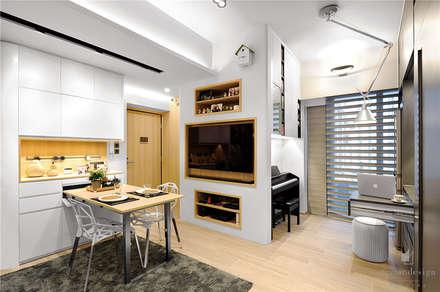 Sai Wan Ho, Hong Kong, Interior Design by Darren Design: eclectic Dining room by Darren Design & Associates 戴倫設計工作室