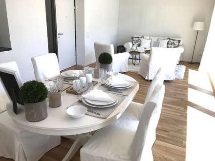 Esszimmer weiss : landhausstil Esszimmer von Select Living Interiors