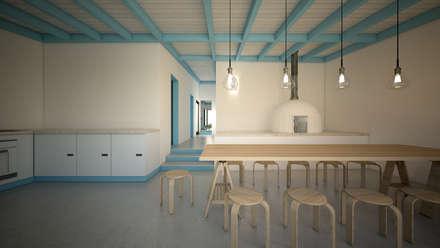 Casa Cabeço de Vide: Armários de cozinha  por brf architecture