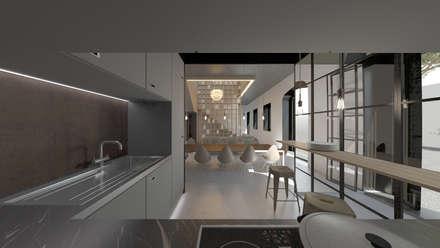 Loft em Marvila, Lisboa, Portugal: Cozinhas embutidas  por brf architecture
