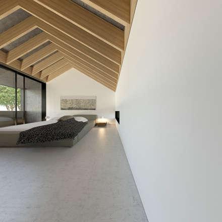 Loft em Marvila, Lisboa, Portugal: Quartos industriais por brf architecture