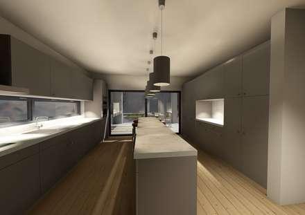 Casa CPJ: Cozinhas modernas por Sousa Macedo, Arquitectos, Lda.