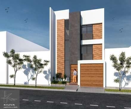 Fachada principal: Anexos de estilo moderno por Kiuva arquitectura y diseño