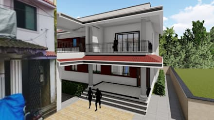 Rumah keluarga besar by Cfolios Design And Construction Solutions Pvt Ltd