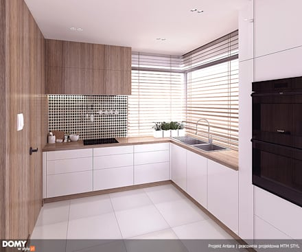 Wizualizacja wnętrza projektu domu Antara: styl , w kategorii Kuchnia zaprojektowany przez Biuro Projektów MTM Styl - domywstylu.pl