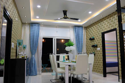 Dining Room: asian Dining room by Enrich Interiors & Decors
