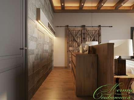 Спальня DE CHALET HOUSE: Спальни в . Автор – Компания архитекторов Латышевых 'Мечты сбываются'