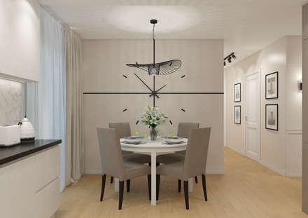 Проект квартиры 70 м2 в ЖК Малевич: Кухни в . Автор – Дизайн Студия 33