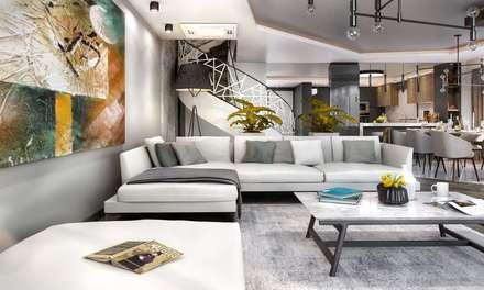 VERO CONCEPT MİMARLIK – Kalafatoğlu Villa İç Mekan: modern tarz Oturma Odası
