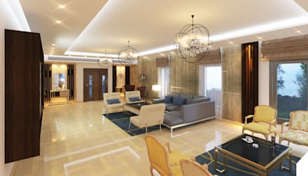 Reception:  غرفة المعيشة تنفيذ SIGMA Designs