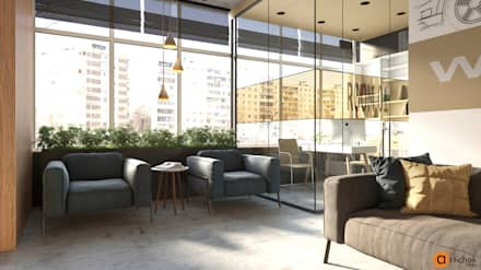 Дизайн интерьера зоны ожидания в офисе: Офисы и магазины в . Автор – Art-i-Chok