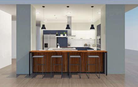 COCINA FINCA: Cocinas de estilo minimalista por Espacio Arual