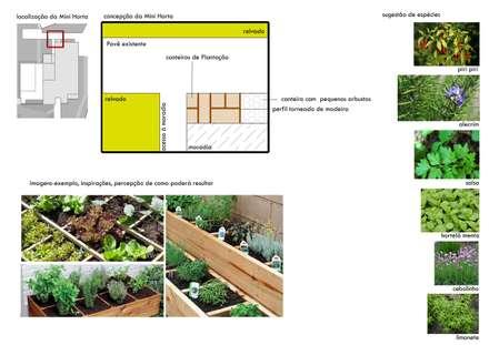 MESAS - JARDIM S&M: Jardins modernos por Jardins e Exteriores - Arthur Pereira - Arqto. Paisagista