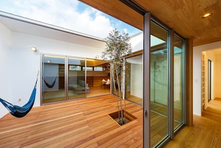 Jardines de estilo escandinavo por 一級建築士事務所haus