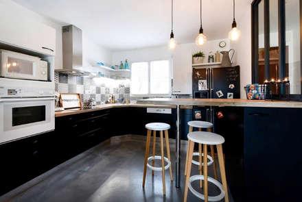 MAISON BORDEAUX Tresses: Cuisine de style de style Scandinave par Julie Chatelain