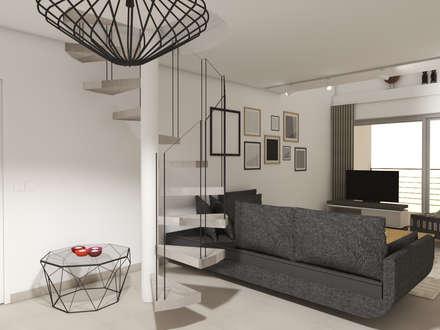 ESCALIER BETON: Escalier de style  par Christine Vuillod, Architecte d'intérieur