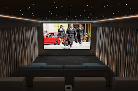 Home Cinema Room in Knutsford, Cheshire:  Electronics by Custom Controls