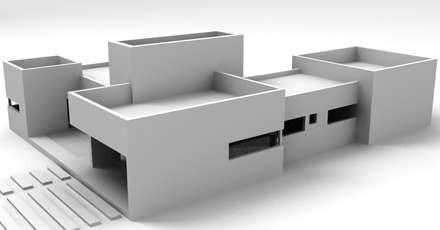 Vista Frente: Casas de estilo moderno por I.S. ARQUITECTURA