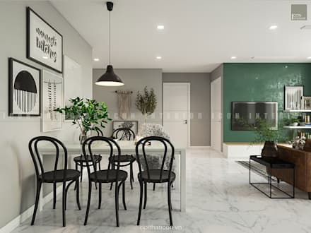 Nội thất căn hộ Vinhomes Ba Son - ICON INTERIOR:  Phòng ăn by ICON INTERIOR
