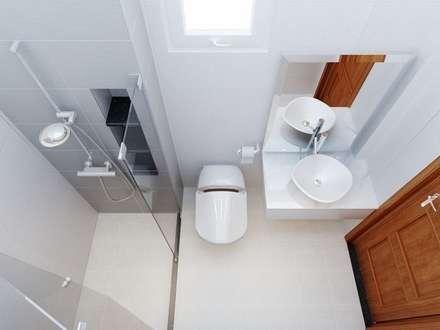 Nhà Phố 4 Tầng Sang Trọng Tại Quận 9:  Phòng tắm by Công ty TNHH Xây Dựng TM DV Song Phát