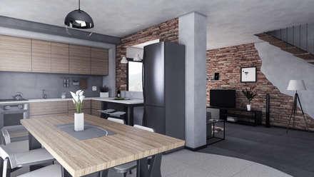 Ristrutturazione ex fienile: Sala da pranzo in stile in stile Rustico di Studio Tecnico Treppo Alberto