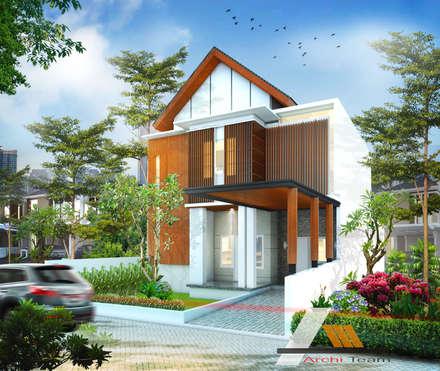 Renovasi rumah dr Irsad:  Rumah tinggal  by Architeamstudio