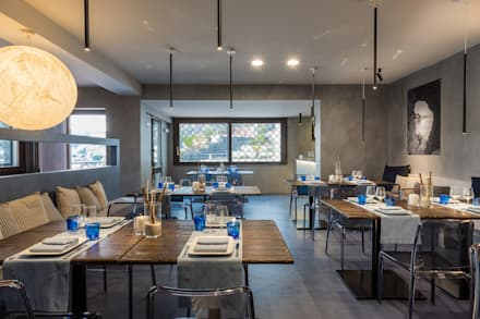 mediterranean Dining room by architetto Lorella Casola